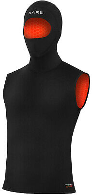 Bare 7/3mm Ultrawarmth Hooded Vest Men's Scuba Diving Wetsuit (All -