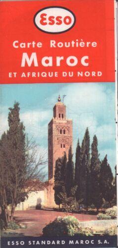 1958 ESSO Road Map: Maroc et Afrique du Nord NOS