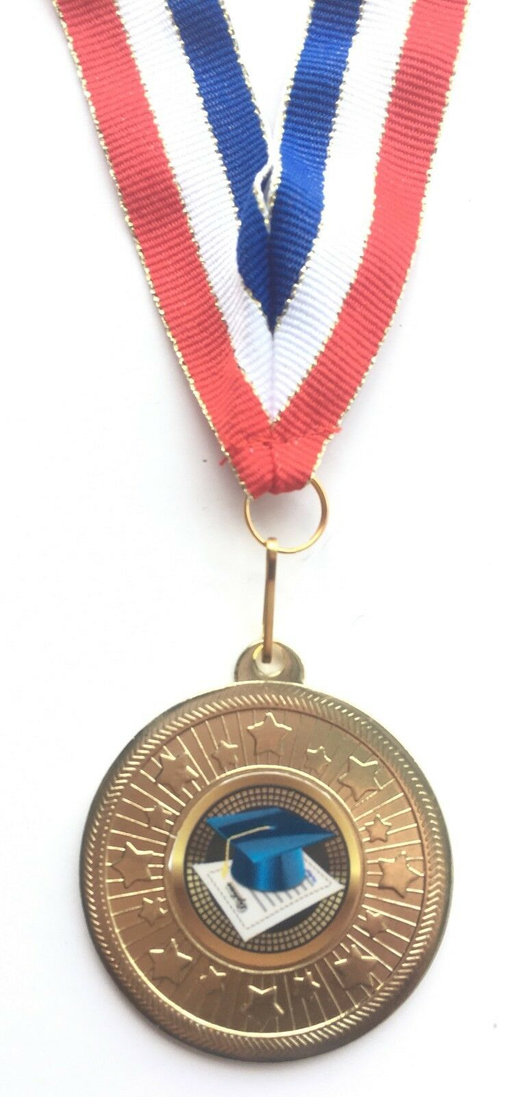 Personalised Engraved Science Gold Coloured 50 mm Medal with Ribbon