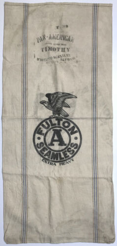 Antique Pan American 1901 Expo Fulton Sack Whitney Eckstein Seed Co. Buffalo NY