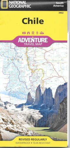 Map of Chile, by National Geographic Adventure Maps #3402 - 2019