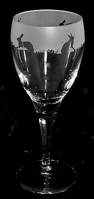 GIFT BOXED - HARE / RABBIT Wine Glass - buy ONE or more