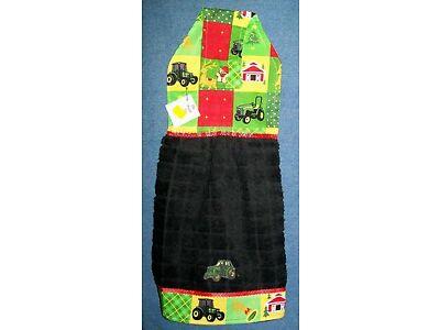 **NEW** Christmas John Deere Hanging Kitchen Refrigerator Fridge Hand Towel #547