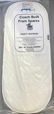 DELUXE QUILTED PRAM SAFETY MATTRESS - iCandy Cherry Carry Cot - Removable Cover, used for sale  Shipping to United States