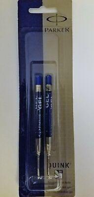 4 Parker Quink Gel Refills Blue Ink Medium Point