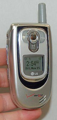 LG VX6100 Verizon Wireless Flip SILVER Cell Phone mobile VGA 4x Zoom Camera ID C Zoom Verizon Wireless
