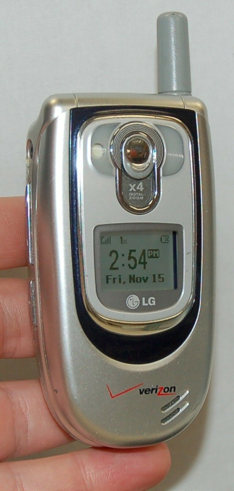 LG VX6100 Verizon Wireless Flip SILVER Cell Phone mobile ...