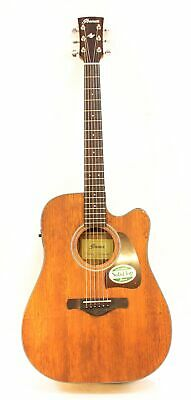 Ibanez AW54CEOPN Artwood Dreadnought Acoustic-Electric Guitar Open Pore Natural