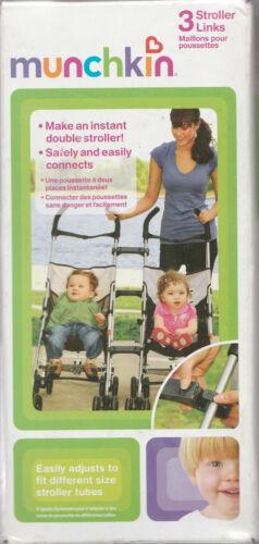 Munchkin ~ 3 Stroller Links ~ Makes an Instant Double Stroller!