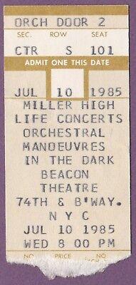 ORCHESTRAL MANOEUVRES IN THE DARK OMD Ticket Stub July 10, 1985 Original