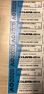 4 x Australian Open 2020 Tennis Night Tickets 21 Jan Rodlaver Lower