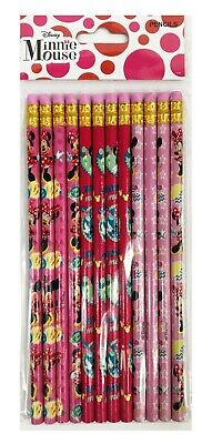 Minnie Mouse Pencils (Minnie Mouse Pencils School Stationary Supplies Party Favors Gifts 12)