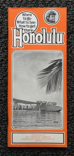 1938-1939 Travelers' Guide To Honolulu - Pan Am Martin M-130 China Clipper Plane