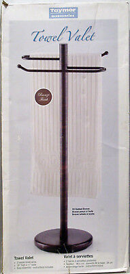 - TAYMOR FLOOR STAND TOWEL & ROBE VALET BATHROOM ANTIQUE BRONZE VALET 38