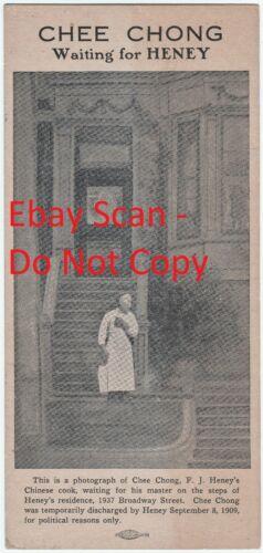 RARE LG Card  Chee Chong - F J Heney - Graft Trials Chinese San Francisco 1909