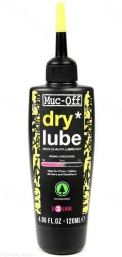 Muc-Off Dry 120ml Bicycle Chain Lube Bottle Road/MTB/CX Biodegradable 4oz