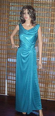 Adrianna Papell Draped Side Cowl Front / Back Metallic Jersey Dress SZ 6 NWT Cowl Front Jersey Dress
