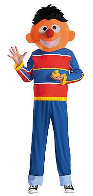 Ernie Retro Erwachsene Kostüm Sesamstraße Herren Maskottchen Charakter - Ernie Kostüm