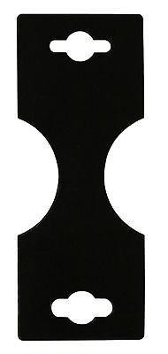 100pc Blk Gloss Braceletnecklace Display Hanging Card 1 38x1 34