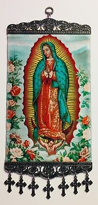 "Our Lady of Guadalupe, Christian Icon Tapestry Wall Decor,7 3/4""W x11 3/4""L,New"