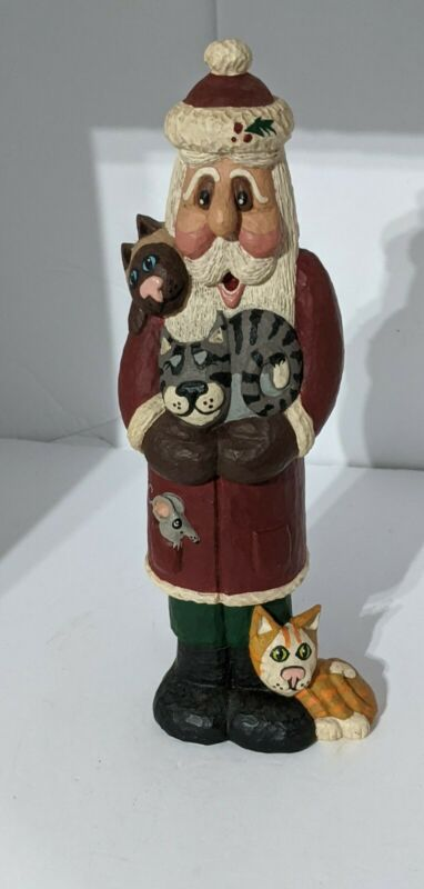 Rodney Leeseberg Santa with Cats & Mouse  2000