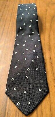 NWT $135 RALPH LAUREN BLACK LABEL SILK TIE BLACK WHITE (Black Label Silk Tie)