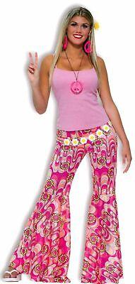 Flower Power Bell Bottom Pants Retro 80's Hippie Women's Flare Costume Accessory (Flower Power Hippie)