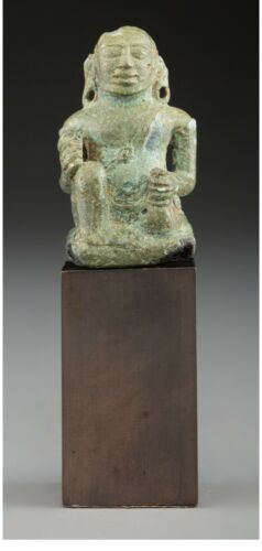 Sculpture Original Art Statue Angkor Bronze Figure King Jayavarman 13th century