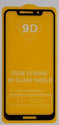 Motorola One Black 9D 3x SchutzPanzer Glasfolie 9H Full Screen Displayschutzfoli Motorola Screen 3