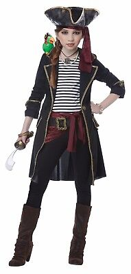 High Seas Captain Pirate Child Girls Costume (Pirate Costumes For Girls)