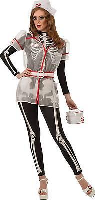 SEXY SKELLIE NURSE - GLOWS IN THE DARK  HALLOWEEN COSTUME WOMEN'S STANDARD - Nurse In Halloween