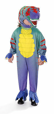 Dinosaur Costume For Girls (DINOSAUR T-REX TYRANNOSAURUS CARNIVAL COSTUME BOYS GIRLS KIDS OUTFIT NEW)