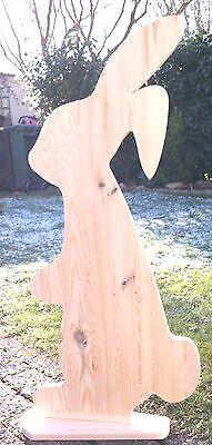 Osterhase groß XXL HOLZ 80 cm Massivholz zum bemalen