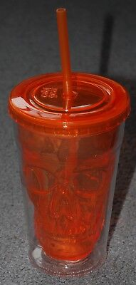 Halloween Skull Face Insolated Reusable Tumbler Cup With Straw by Cool Gear