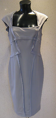Holly Willoughby Ribbed Pencil Dress Grey Frayed Edge Dress Size 8  10 New Tags
