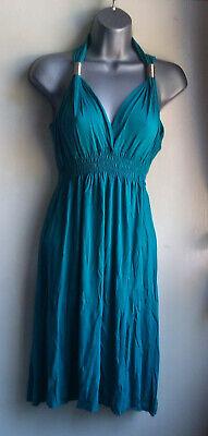 Teal Mode (FLAM Modes Paris, Teal/Jade Coloured Dress, Size 8, Petite)