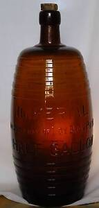 Collectable LOY BROS Half Gallon Bottle (AMBER COLOUR) Cranbourne North Casey Area Preview