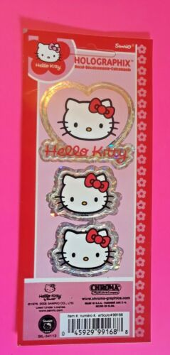 """New Sanrio HELLO KITTY Holographic 1-2"""" Decal Sticker Sets"""