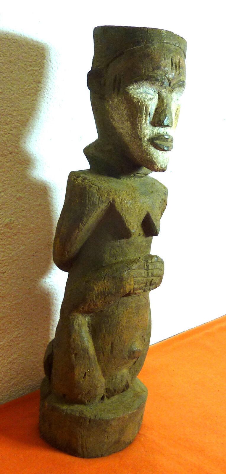 Afrikanische Kunst Fruchtbarkeitsfigur Igbo Nigeria 58 cm Weiblicher Akt Fetisch