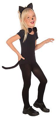 Cat Accessory Kit Child Girls Costume Animal Dress Up Black Cat Ears Headband