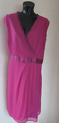 Holly Willoughby Mock Wrap Party Dress Magenta  Pink Uk Size 10 New Tags