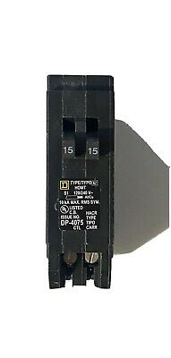 Square D Homeline 15 Amp Twin 1 Pole Tandem Circuit Breaker Hom1515 1515 Amp