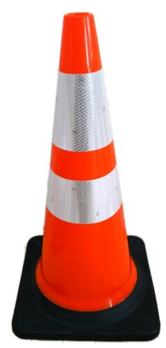 """6 PCS 28"""" Inch Orange Road Safety Traffic cone 3M Reflective. Made in Taiwan"""