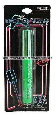 Neon Green Halloween Makeup (EXPRESSIONS* Lip Gloss NEON GREEN Liquid+Wand HALLOWEEN Almar NEW!)