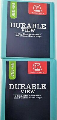 Lot Of 2 Pen Gear Durable View 1 3 Ring Binder Teal
