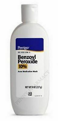Perrigo BENZOYL PEROXIDE WASH 10% 8oz  XL SIZE!  FRESH PHARMACY STOCK!