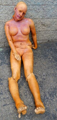 ALIEN/FEMALE NAKED  LIFE SIZE STATUE MOVIE -STORE- DISPLAY PROP