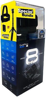 GoPro Hero 8 Black Black Holiday Bundle Action Cam wasserdicht Sprachsteuerung