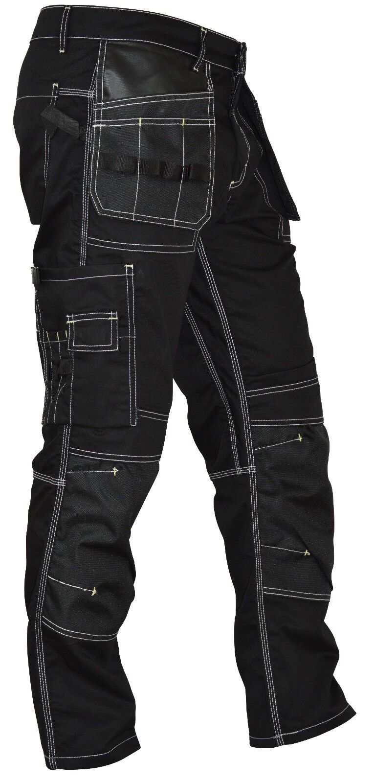 Mens Utility Workwear pants Cordura Knee Reinforcement Work Trousers