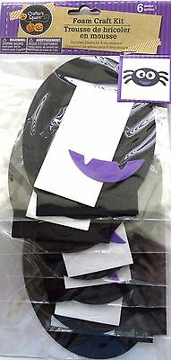 New Halloween Foam Decorating Craft Kit Makes 6 ~ Spider  FREE SHIPPING
